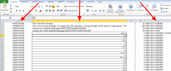 edit the excel spreadsheets for sms messages