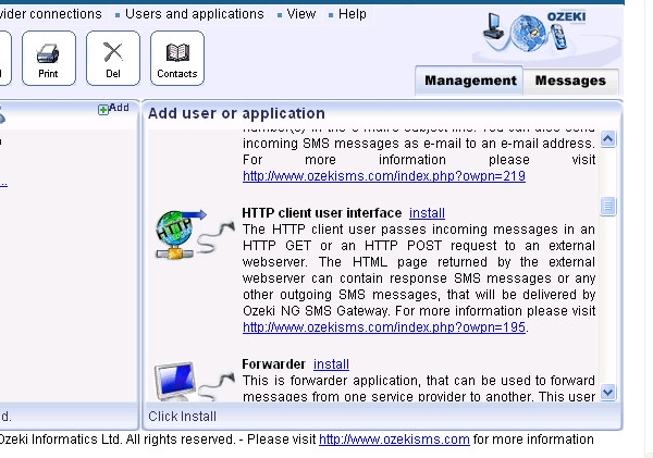 SMS Gateway - ASP SMS API, ASP with built in webserver C#