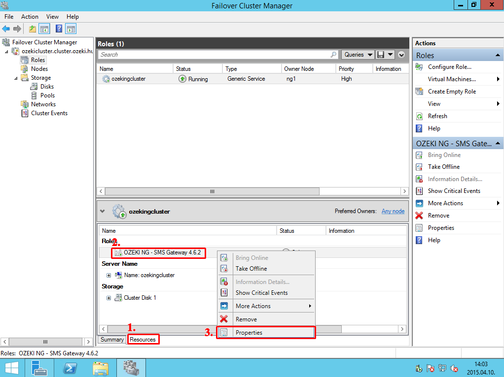 SMS Gateway - Administrator's guide, Failover clustering<br